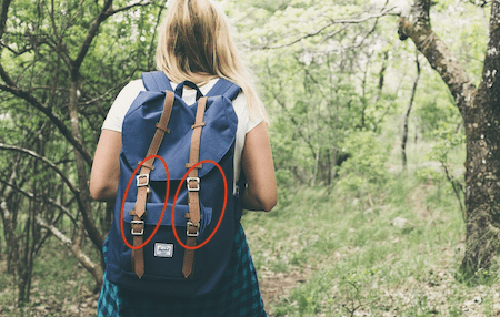 backpack compression buckles
