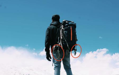 loop on the backpack